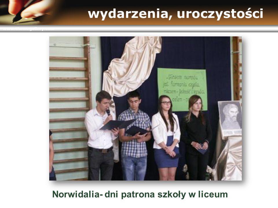 www.themegallery.com wydarzenia, uroczystości Norwidalia- dni patrona szkoły w liceum