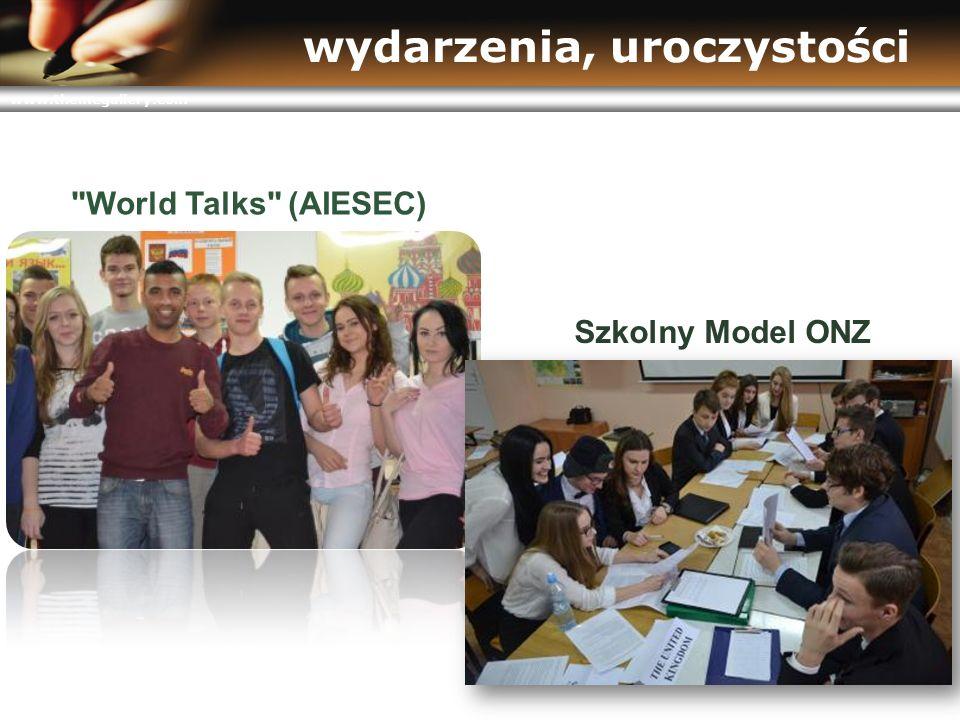 www.themegallery.com wydarzenia, uroczystości World Talks (AIESEC) Szkolny Model ONZ