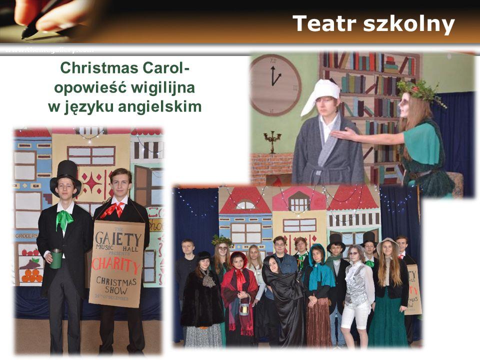 www.themegallery.com Teatr szkolny Christmas Carol- opowieść wigilijna w języku angielskim