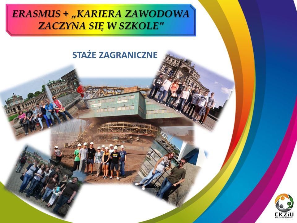 """STAŻE ZAGRANICZNE ERASMUS + """"KARIERA ZAWODOWA ZACZYNA SIĘ W SZKOLE"""