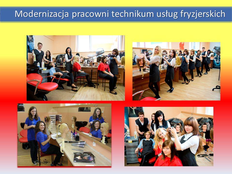 Modernizacja pracowni technikum usług fryzjerskich Modernizacja pracowni technikum usług fryzjerskich