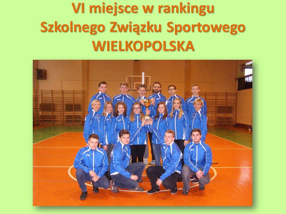 VI miejsce w rankingu Szkolnego Związku Sportowego WIELKOPOLSKA