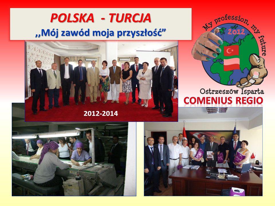 """POLSKA - TURCJA,,Mój zawód moja przyszłość"""" 2012-2014"""