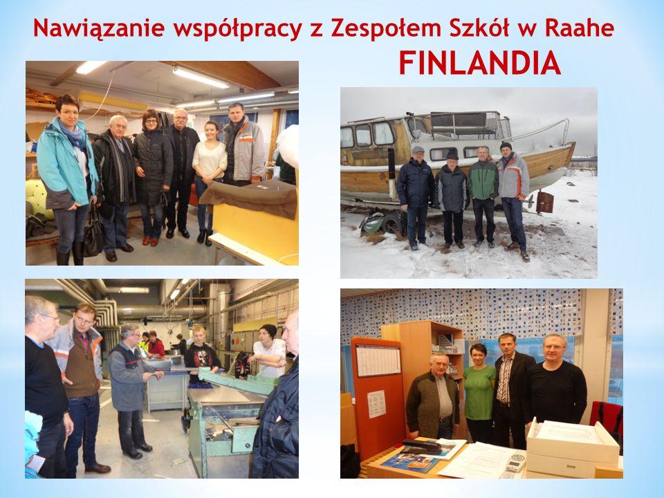 Nawiązanie współpracy z Zespołem Szkół w Raahe FINLANDIA