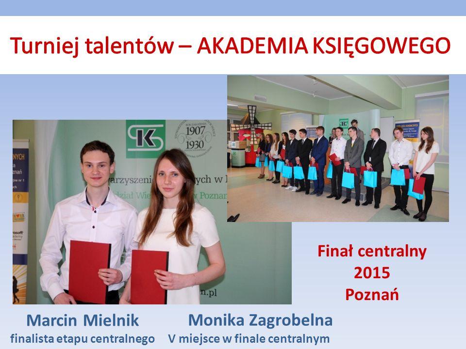 Monika Zagrobelna V miejsce w finale centralnym Marcin Mielnik finalista etapu centralnego Finał centralny 2015 Poznań