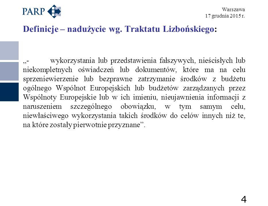 Warszawa 17 grudnia 2015 r.Nieuprawnione uzyskanie korzyści KK Art.