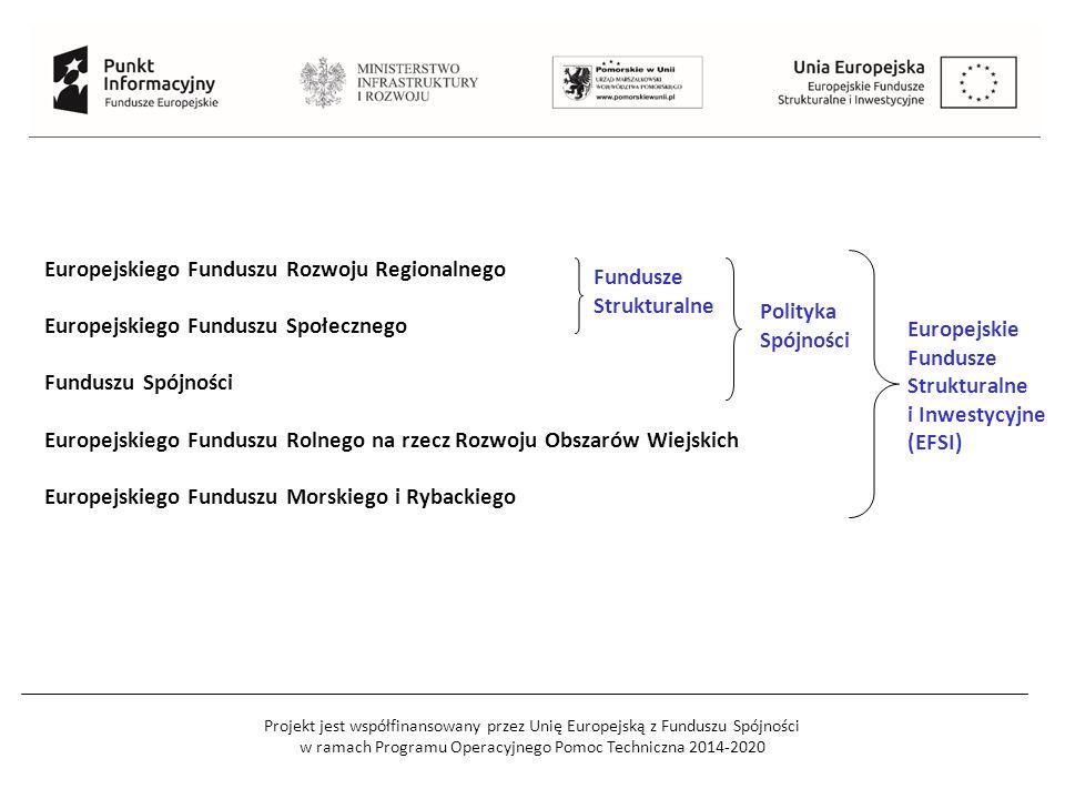 Projekt jest współfinansowany przez Unię Europejską z Funduszu Spójności w ramach Programu Operacyjnego Pomoc Techniczna 2014-2020 Europejskiego Fundu