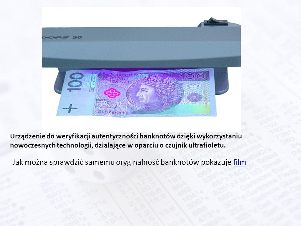 Urządzenie do weryfikacji autentyczności banknotów dzięki wykorzystaniu nowoczesnych technologii, działające w oparciu o czujnik ultrafioletu.