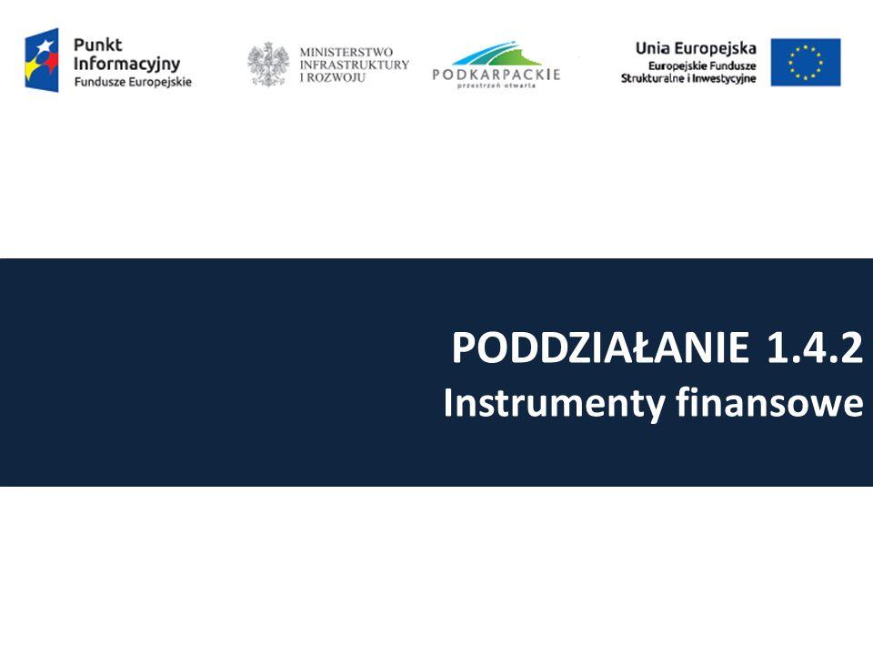 PODDZIAŁANIE 1.4.2 Instrumenty finansowe