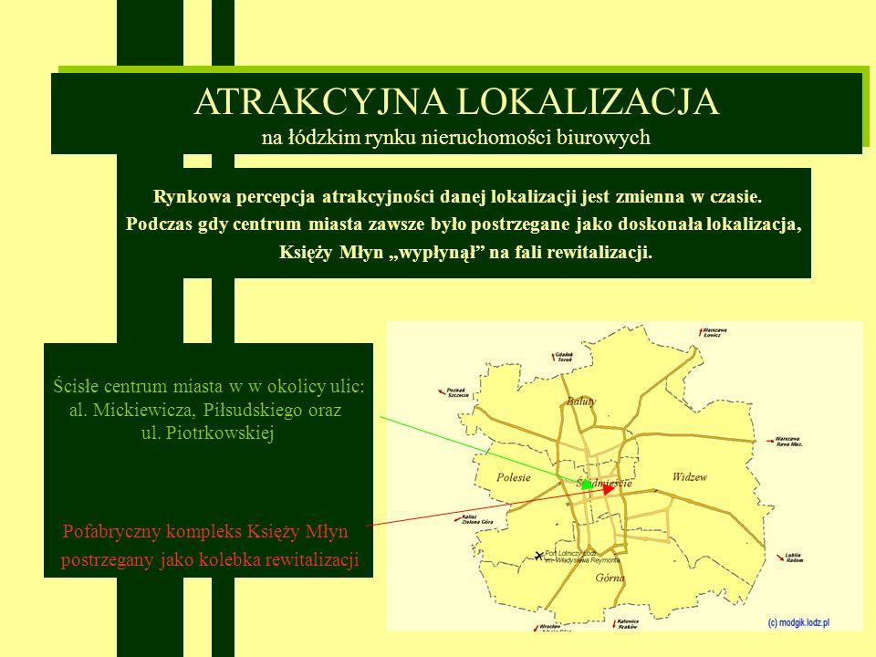 Ścisłe centrum miasta w w okolicy ulic: al. Mickiewicza, Piłsudskiego oraz ul.