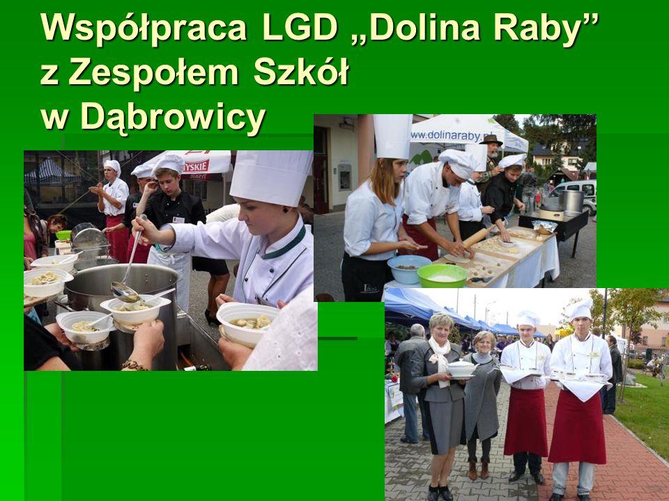 """Współpraca LGD """"Dolina Raby"""" z Zespołem Szkół w Dąbrowicy"""