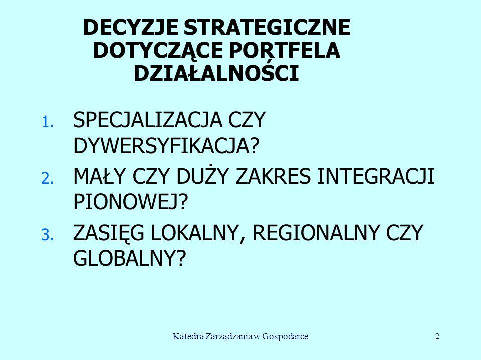 HISTORIA DYWERSYFIKACJI n Do II Wojny Światowej – specjalizacja, n Lata 50.- 70.