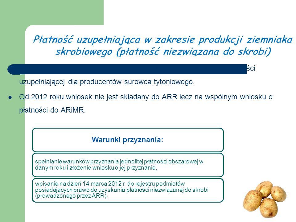 Konstrukcja i zasady przyznawania tej płatności są zbliżone do płatności uzupełniającej dla producentów surowca tytoniowego.