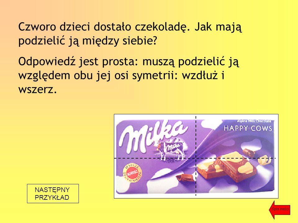 Czworo dzieci dostało czekoladę. Jak mają podzielić ją między siebie.