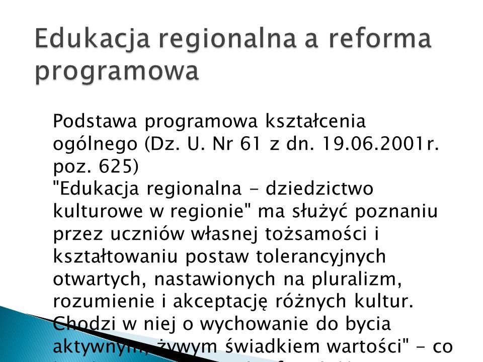 Podstawa programowa kształcenia ogólnego (Dz.U. Nr 61 z dn.