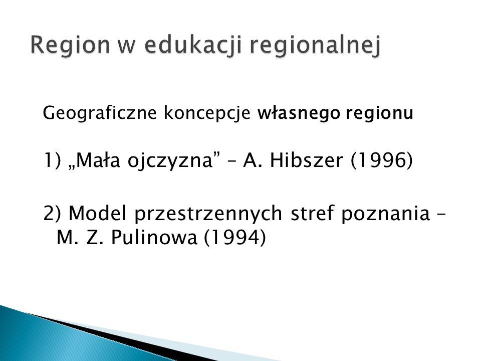 """Geograficzne koncepcje własnego regionu 1) """"Mała ojczyzna – A."""