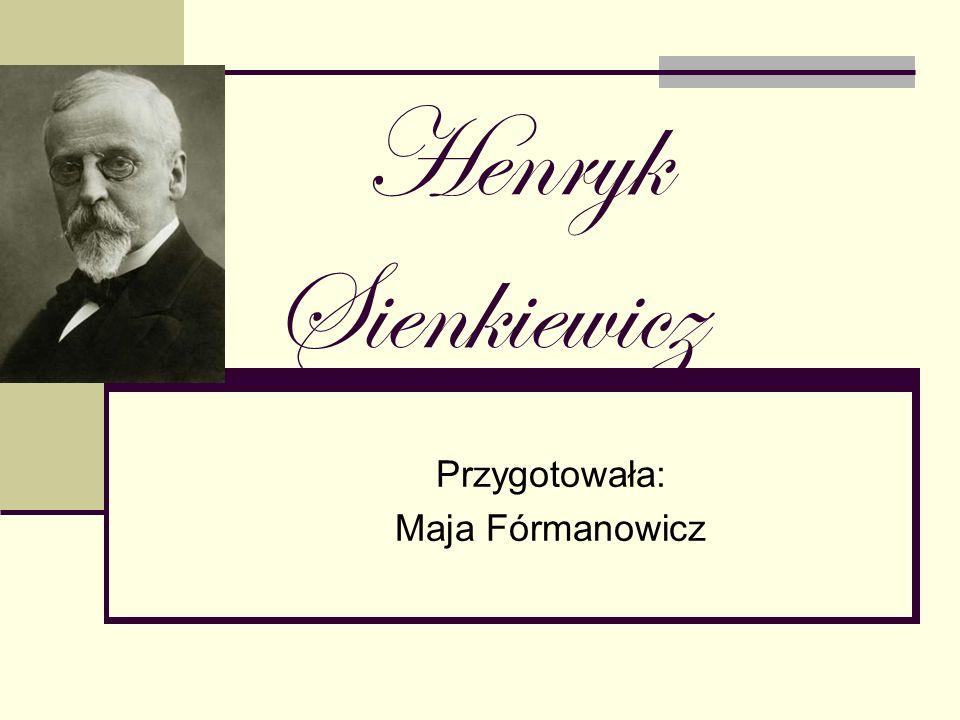 Jubileusz Działalności Artystycznej Na rok 1900 przypadł jubileusz działalności artystycznej Henryka Sienkiewicza.