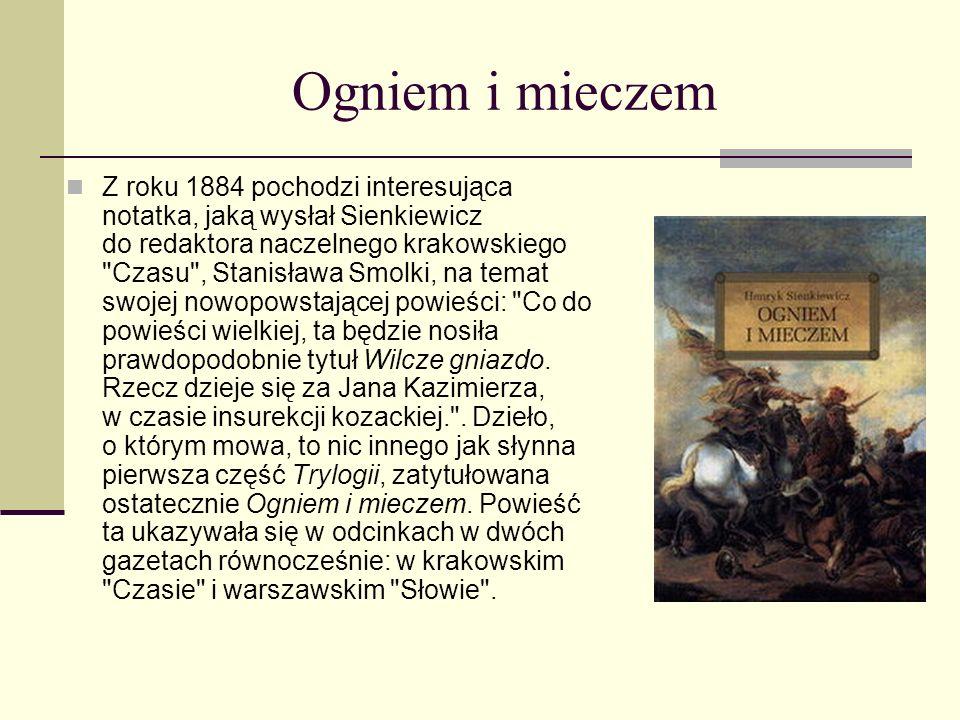 Dzieci Henryka Sienkiewicza. Państwo Sienkiewiczowie mieli dwójkę dzieci, Henryka Józefa i Jadwigę Marię. Okres ten był szczęśliwy dla pisarza nie tyl