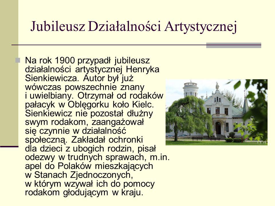 Małżeństwa Sienkiewicza W roku 1893 znów zmienił się stan cywilny pisarza. Poznał on Marię Wołodkowiczównę, córkę wielmoży z Odessy. Wkrótce odbył się