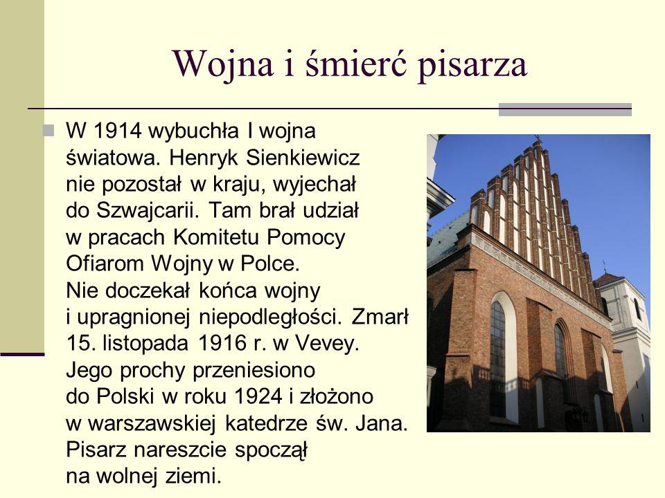 W pustymi i w puszczy Sienkiewicz nie spoczął na laurach po otrzymaniu nagrody. Już w 1912 r. ukazała się powieść dla młodzieży, zainspirowana dawną w