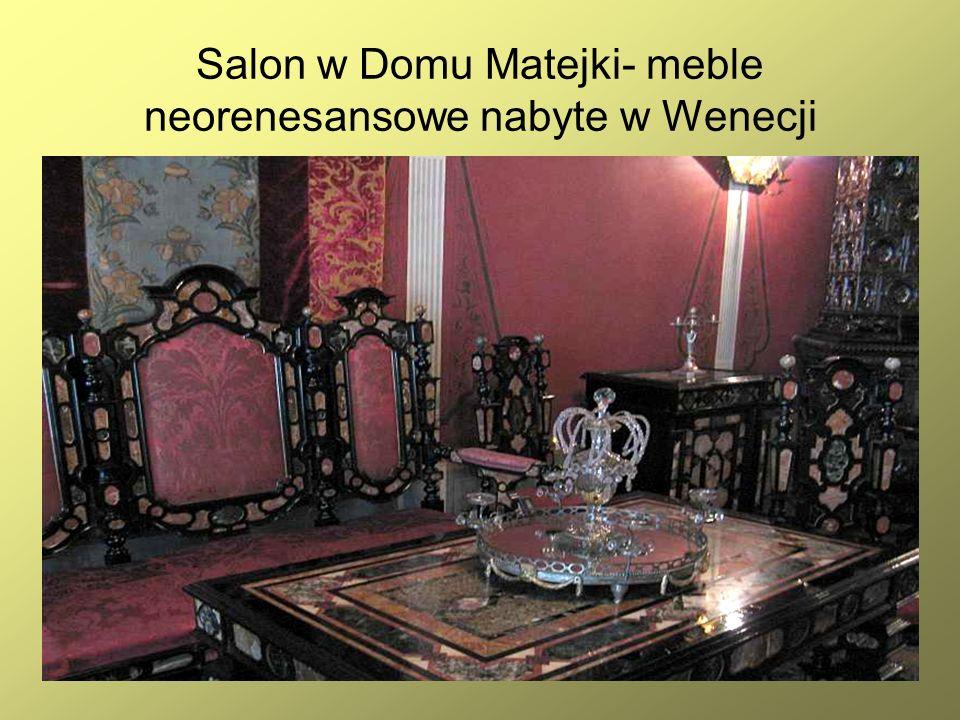 17 Salon w Domu Matejki- meble neorenesansowe nabyte w Wenecji