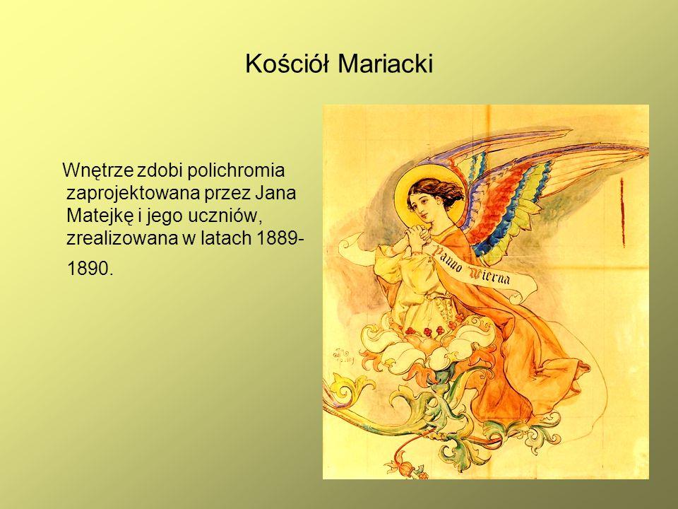 24 Kościół Mariacki Wnętrze zdobi polichromia zaprojektowana przez Jana Matejkę i jego uczniów, zrealizowana w latach 1889- 1890.