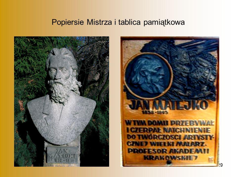 29 Popiersie Mistrza i tablica pamiątkowa