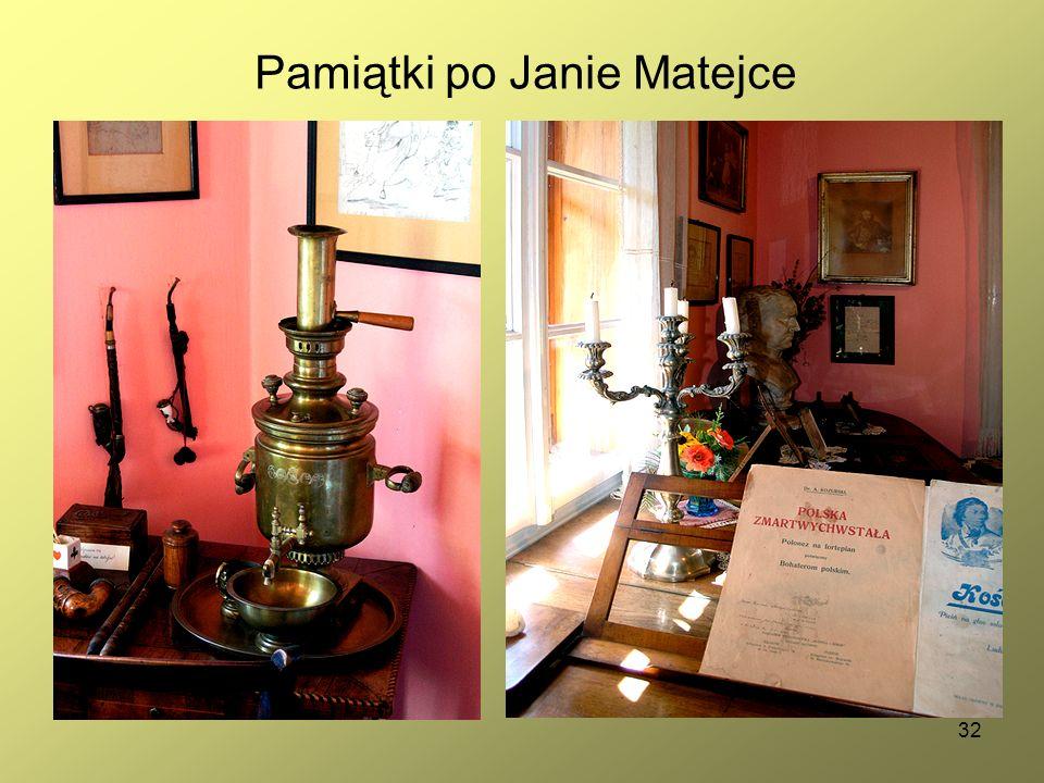 32 Pamiątki po Janie Matejce