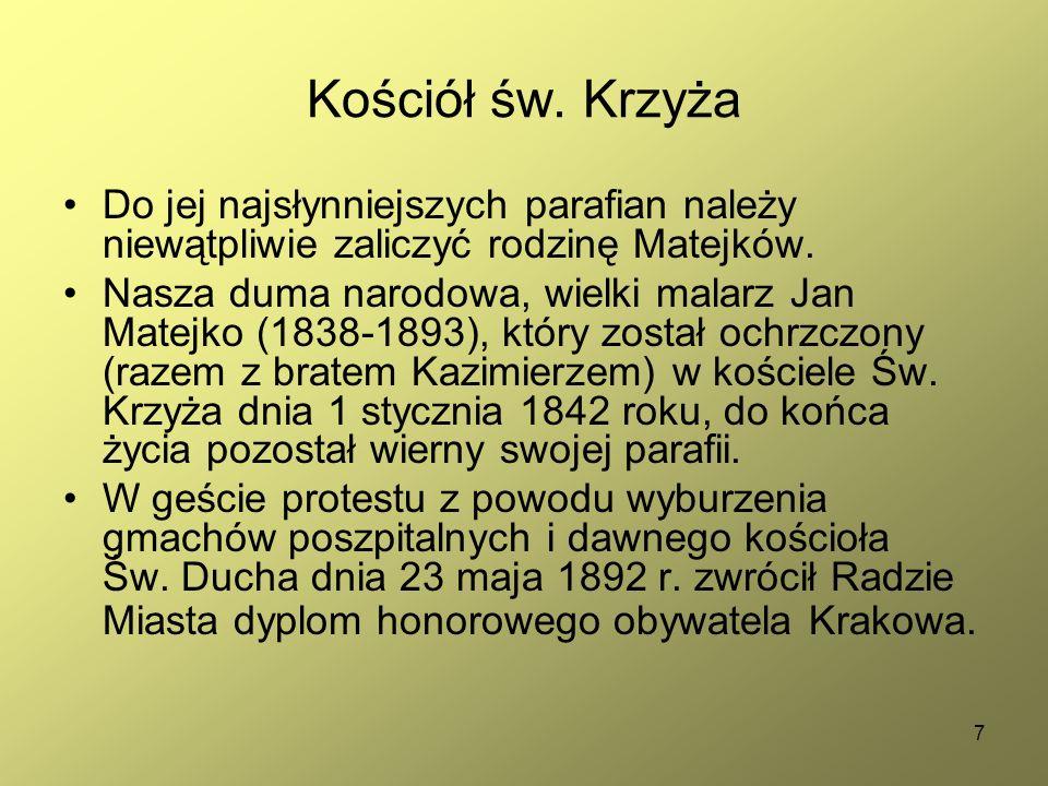 38 Przed dworkiem znajduje się brązowe popiersie Jana Matejki z 1994 r.