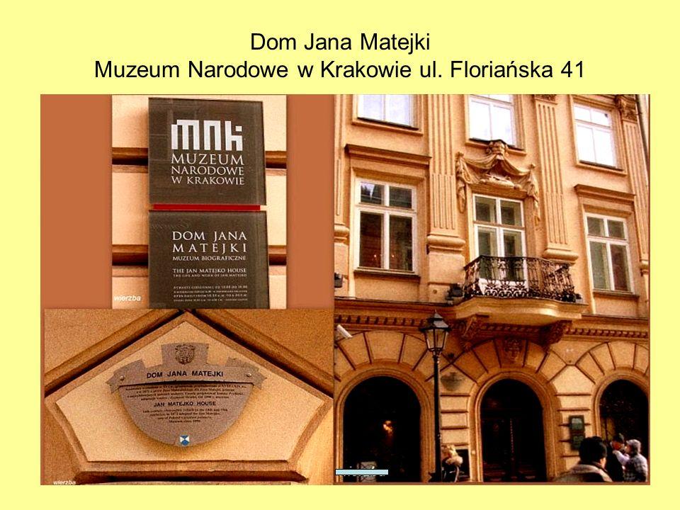 10 Tablica pamiątkowa na fasadzie Domu Jana Matejki.