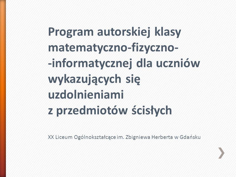 Założenia ogólne: Program jest innowacją pedagogiczną o charakterze:  programowym  organizacyjnym  metodycznym Autorzy innowacji: Szymon Dobecki, Kamil Żmudziński, Mikołaj Sochacki, Bożena Kondratiuk Opieka naukowa: Prof.