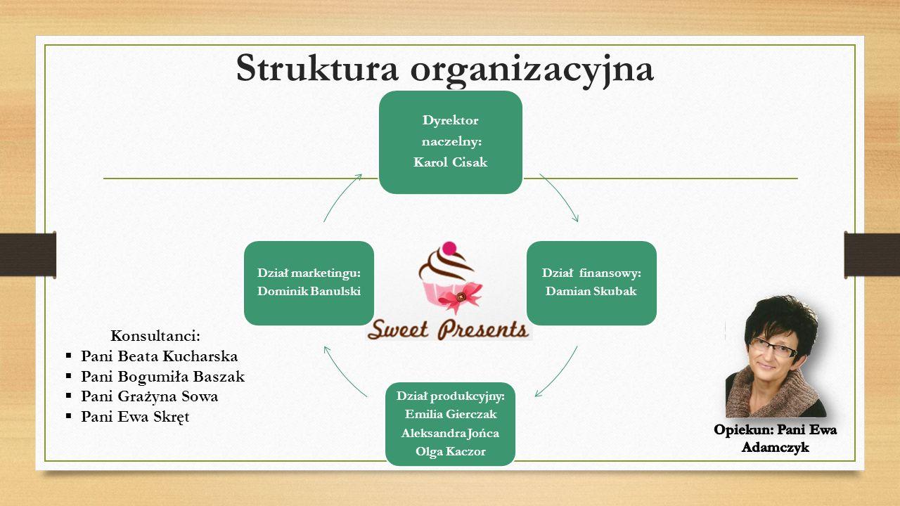 Zespół W celu sprostania wymaganiom klientów, sześć kreatywnych i przedsiębiorczych osób, pragnie sprawiać radość innym realizując podstawową działalność firmy oraz angażując się w różne akcje charytatywne takie jak zbiórki żywności, szkolne kawiarenki, WOŚP i inne.