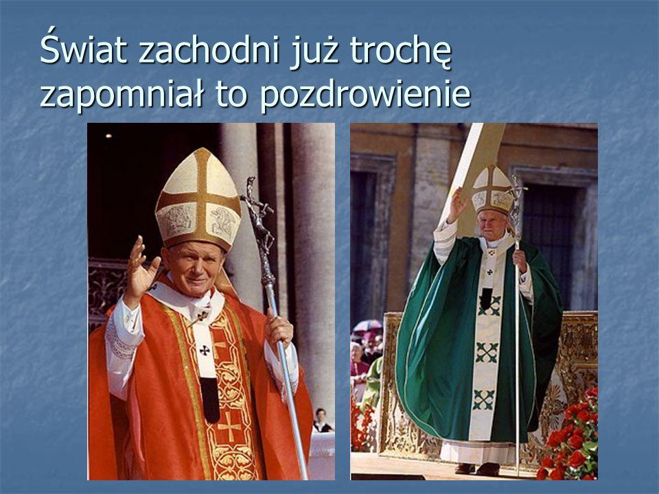 Już w dwa dni po wyborze Papież opuścił Watykan Papież opuścił Watykan Zrywając wszelkie obowiązujące do tej pory zwyczaje Zrywając wszelkie obowiązujące do tej pory zwyczaje Udał się do Kliniki Gemelli, aby odwiedzić chorego biskupa Andrzeja Deskura Udał się do Kliniki Gemelli, aby odwiedzić chorego biskupa Andrzeja Deskura W 1985 roku uczynił go kardynałem W 1985 roku uczynił go kardynałem Tak bardzo cenił cierpienie i zasługi dla Kościoła Tak bardzo cenił cierpienie i zasługi dla Kościoła
