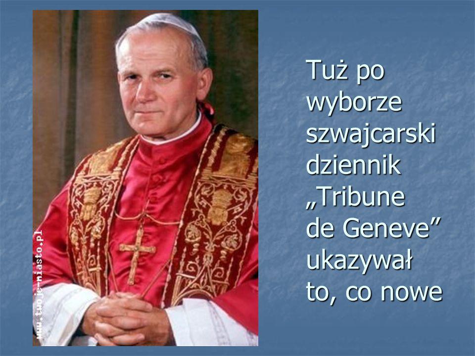 Papież czyta i przemawia bez okularów