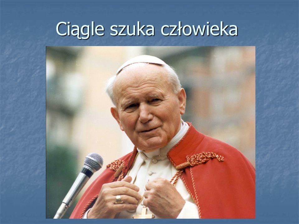Miał wielką troskę o słabych i cierpiących Już 30 października 1978 roku papież Jan Paweł II odwiedził chorych kardynałów w gmachu Świętego Oficjum Już 30 października 1978 roku papież Jan Paweł II odwiedził chorych kardynałów w gmachu Świętego Oficjum Było to prawdziwe pochylenie się nad cierpiącymi Było to prawdziwe pochylenie się nad cierpiącymi Spotkania z chorymi szybko stały się stałym punktem działalności papieża Spotkania z chorymi szybko stały się stałym punktem działalności papieża