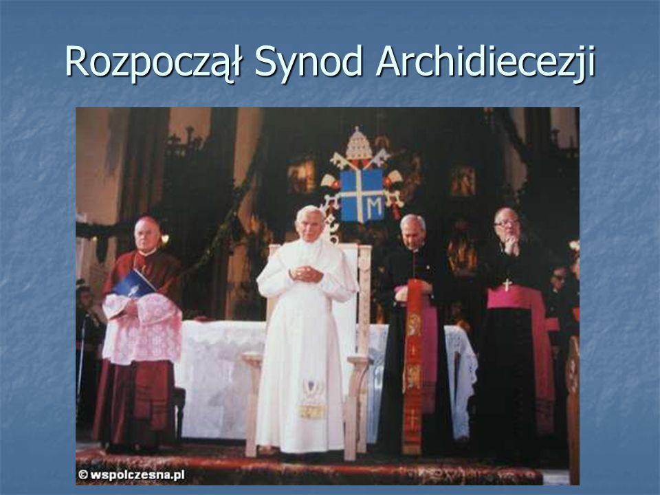Rozpoczął Synod Archidiecezji