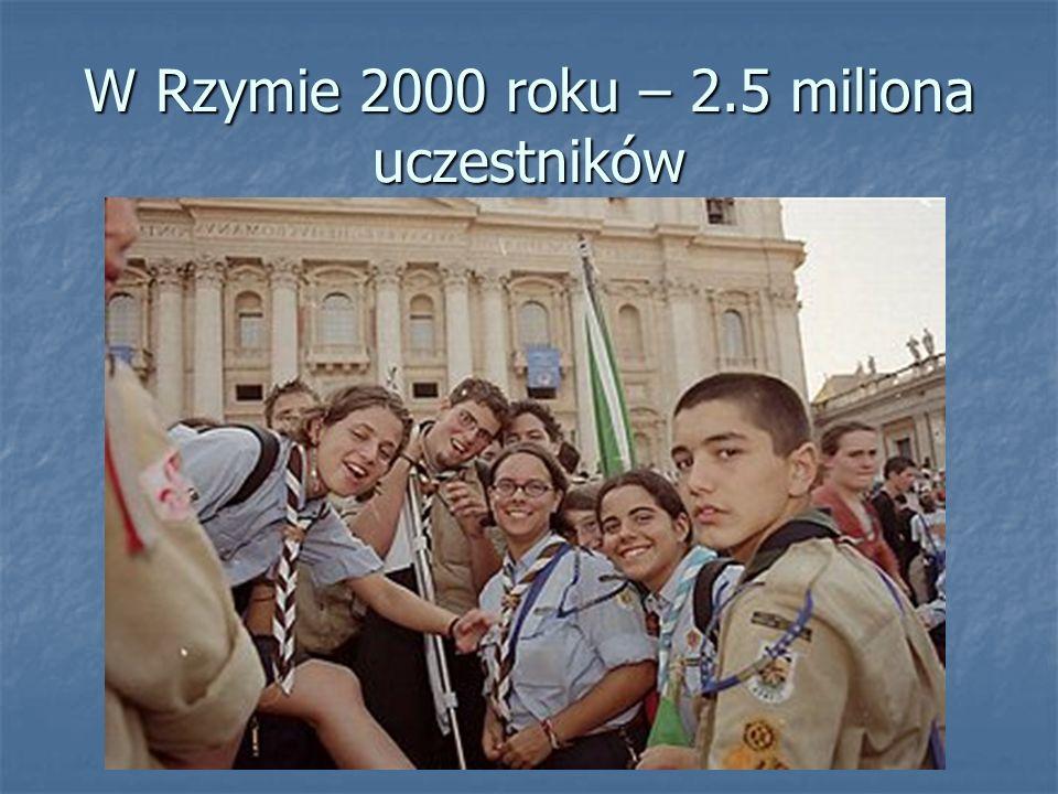 W Rzymie 2000 roku – 2.5 miliona uczestników