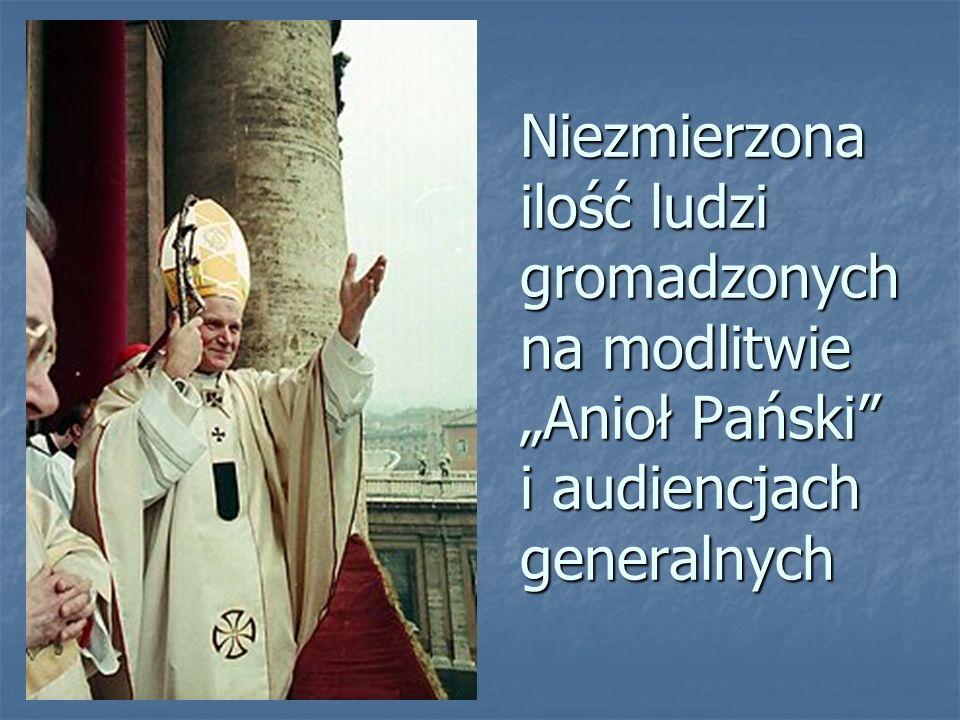 """Niezmierzona ilość ludzi gromadzonych na modlitwie """"Anioł Pański"""" i audiencjach generalnych"""