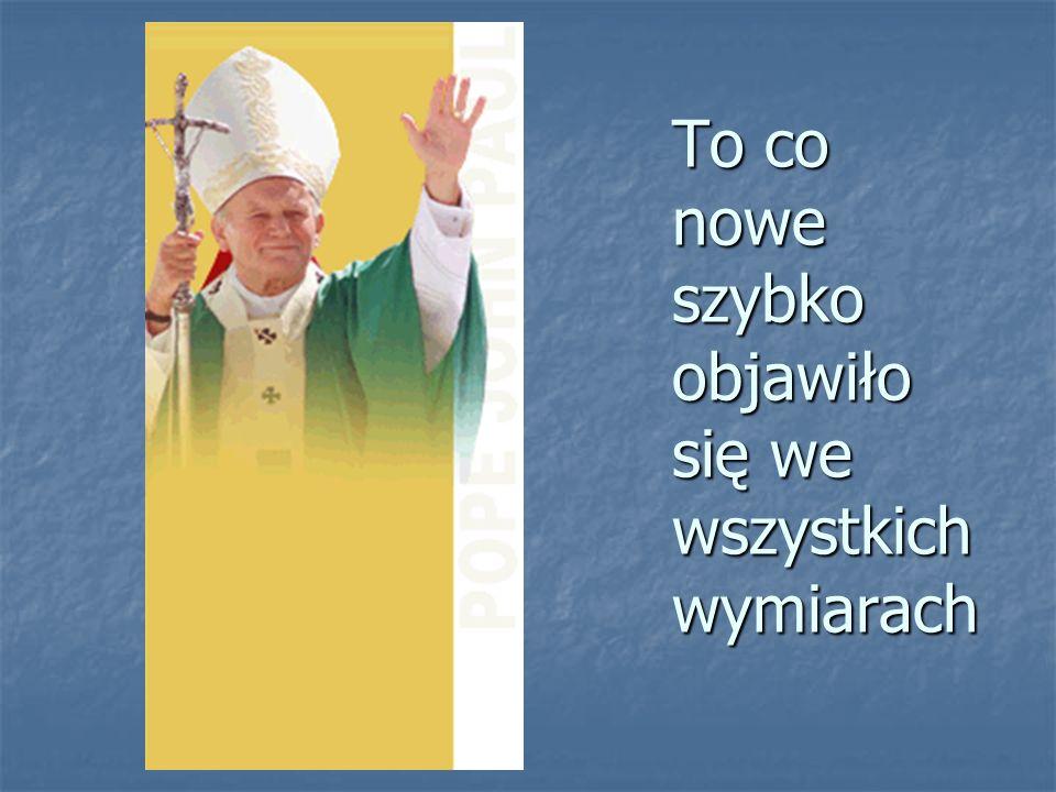 Papież Jan Paweł II, jako pierwszy po swoim wyborze przemówił do wiernych