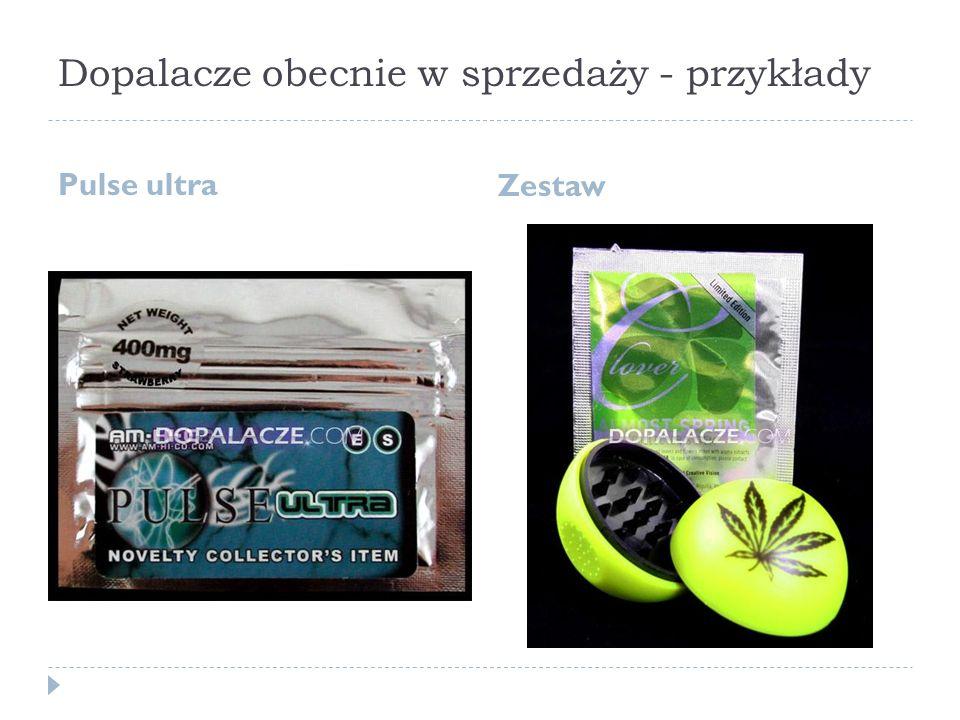 Dopalacze obecnie w sprzedaży - przykłady Pulse ultra Zestaw