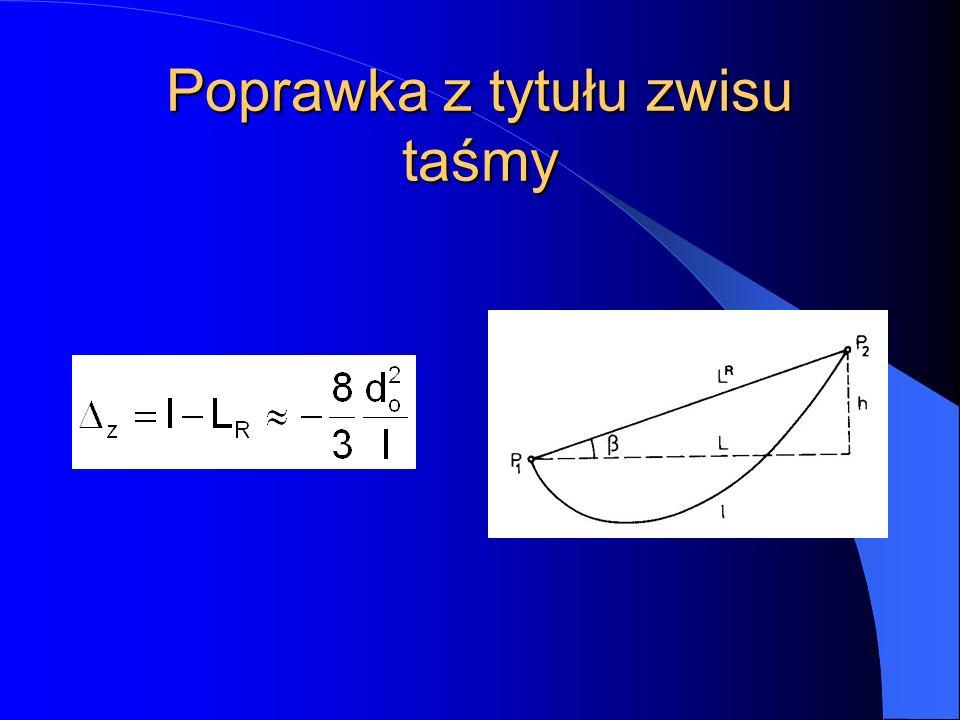 Teodolit Reichenbacha (E - (d + f))/l = f/p d + f = c f/p = k E = k l + c