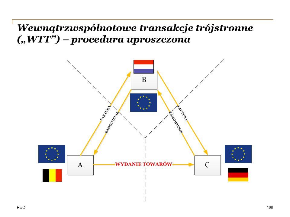"""PwC Wewnątrzwspólnotowe transakcje trójstronne (""""WTT"""") – procedura uproszczona aa 100"""