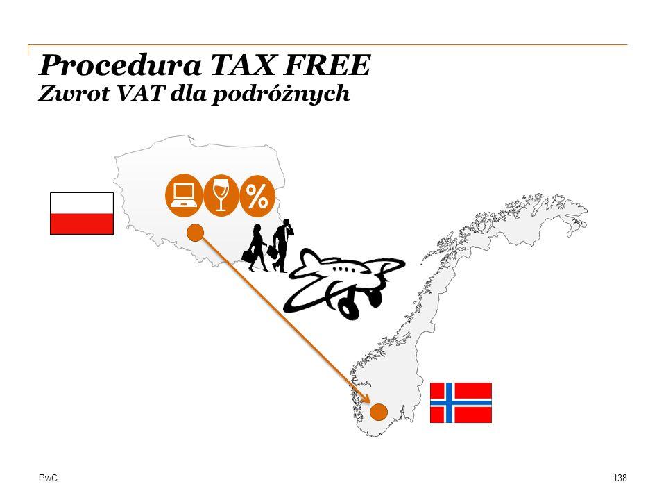 PwC Procedura TAX FREE Zwrot VAT dla podróżnych 138