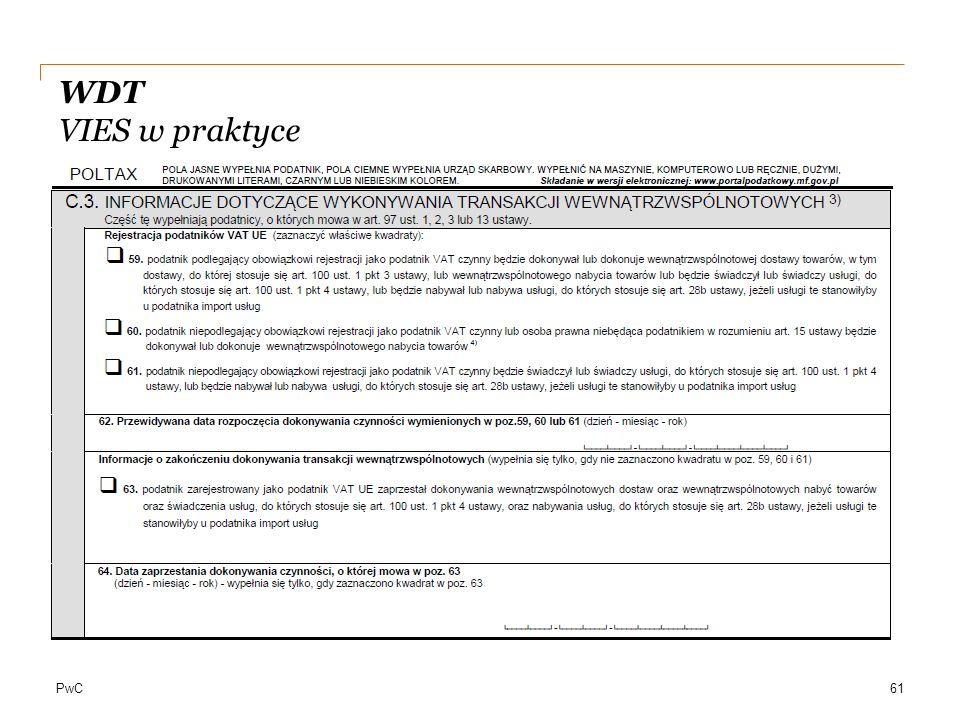 PwC WDT VIES w praktyce 61