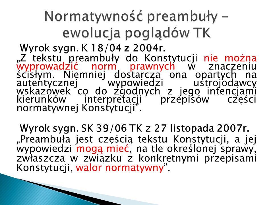 Wyrok sygn. K 18/04 z 2004r.