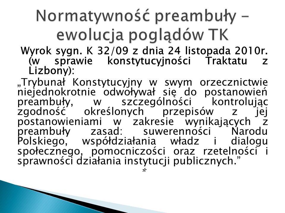 Wyrok sygn. K 32/09 z dnia 24 listopada 2010r.