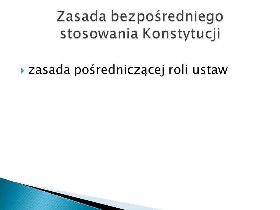 zasada pośredniczącej roli ustaw