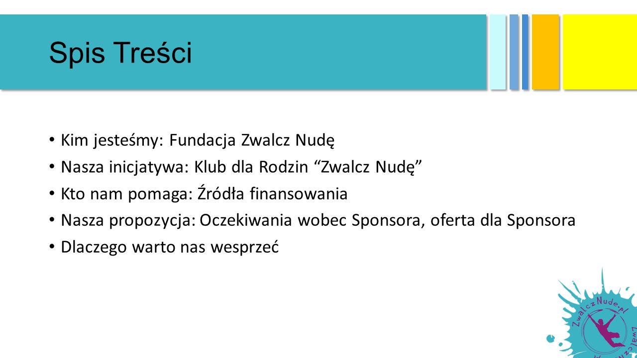 Uzasadnienie Fundacja Zwalcz Nudę działa na terenie Warszawy i innych miast Polski, z sukcesem realizując od lat projekty o wymiarze społecznym i edukacyjnym, promujące wartości rodzinne i integrację Z dumą wspieramy promocję naszych darczyńców i wieloletnich Sponsorów, dzięki którym nasze działania mogą nieść radość dzieciom i dorosłym Dzięki udanej współpracy, liczba naszych partnerów i odbiorców rośnie, a my doskonalimy się w działaniach realizując kolejne pomysły Jeśli nie mogą Państwo wesprzeć nas przy tworzeniu Klubu dla Rodzin Zwalcz Nudę , zapraszamy do współpracy przy innych inicjatywach naszej Fundacji Z przyjemnością udzielimy wszelkich dodatkowych informacji