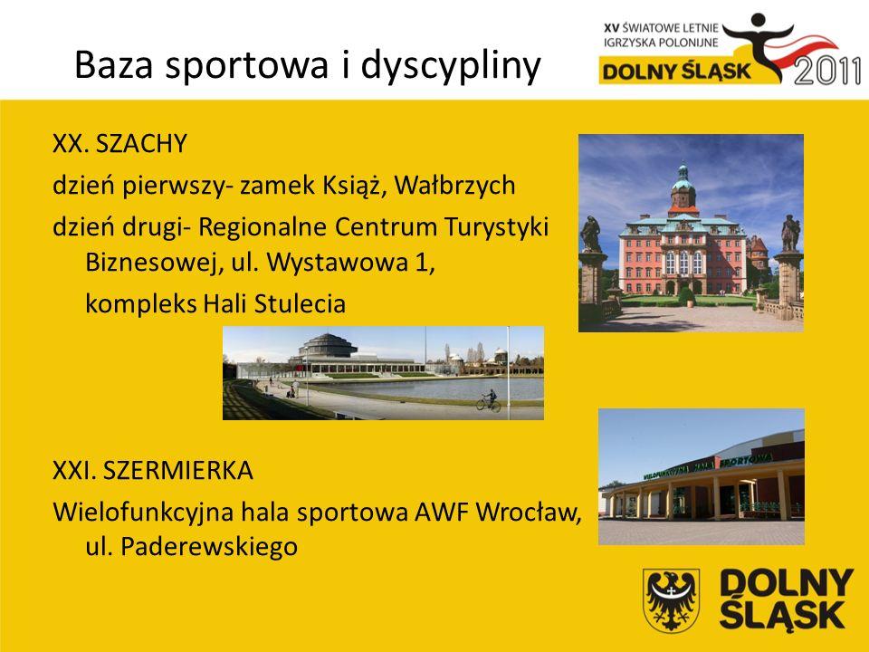 Baza sportowa i dyscypliny XX.