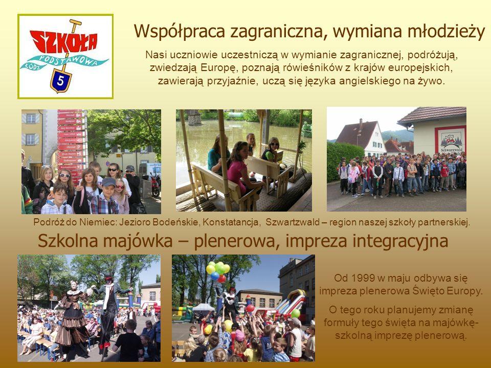 Nasi uczniowie uczestniczą w wymianie zagranicznej, podróżują, zwiedzają Europę, poznają rówieśników z krajów europejskich, zawierają przyjaźnie, uczą